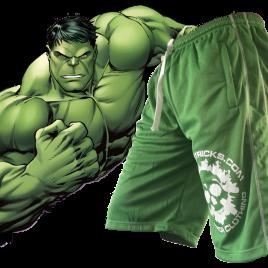 FREE post HULKING green shorts